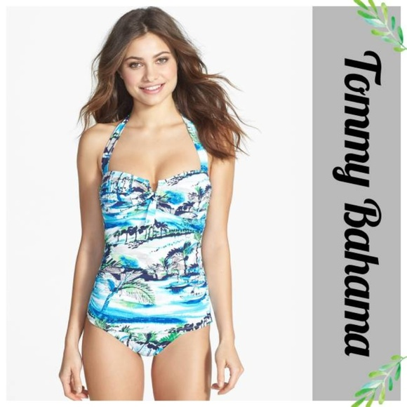 fe7a50025c Tommy Bahama Scenic Harbor Bandeau Halter Swimsuit.  M_5c9e6f14689ebc8bbd18b978